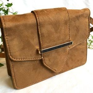Handbags - NEW! Cross body Camel Tan Purse Bag on Faux suede